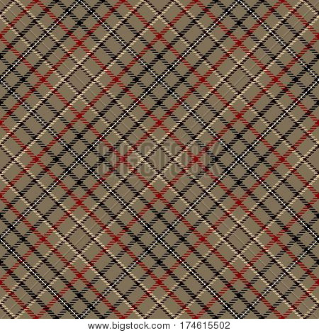 Tartan Seamless Pattern Background. Red Black Brown Camel Beige and White Plaid Tartan Flannel Shirt Patterns. Trendy Tiles Vector Illustration for Wallpapers.