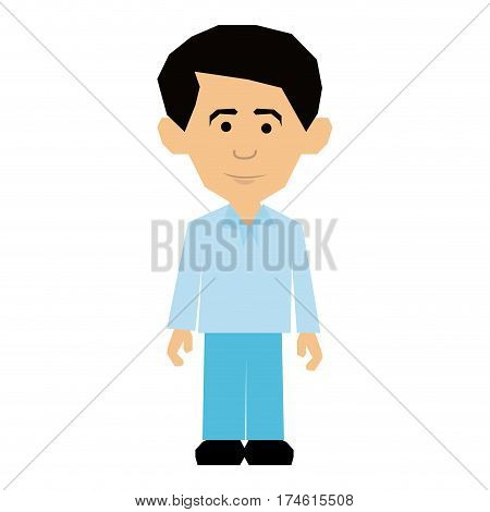 colorful picture man dressed formal style vector illustration