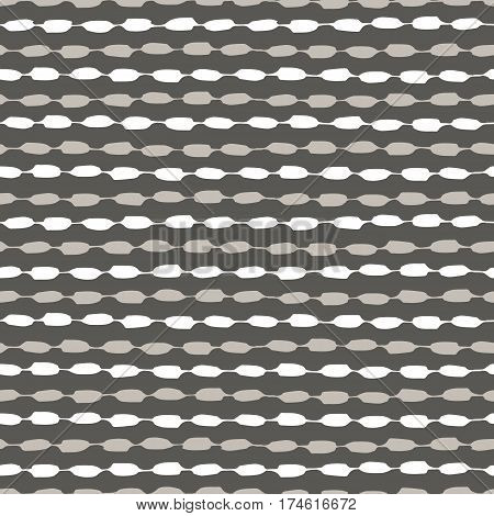 Seamless geometric pattern. Vector illustration. Hand painted ink in beige, grey and white. Graphic design element for web sites, stationary printables, fabric, scrapbooking etc.