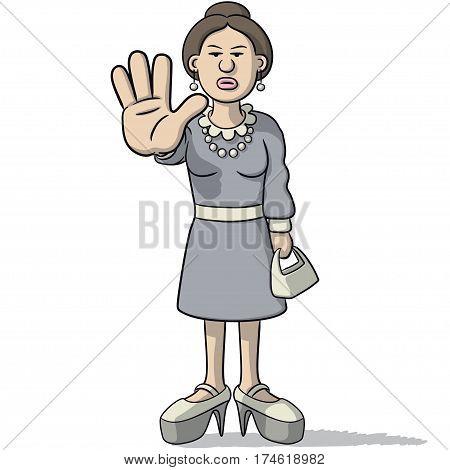 Woman Cartoon Sign Of Alt