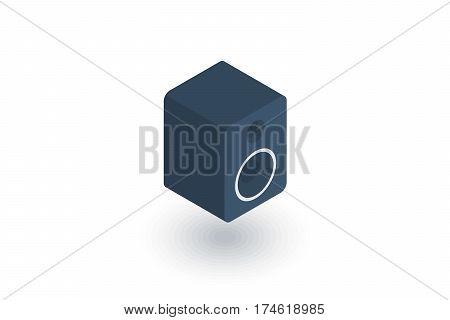 subwoofer speaker isometric flat icon. 3d vector colorful illustration. Pictogram isolated on white background