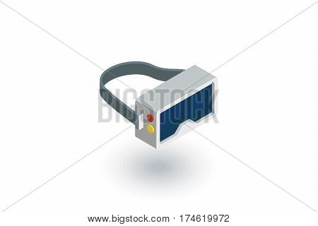 VR glasses, goggles, virtual reality 360 isometric flat icon. 3d vector colorful illustration. Pictogram isolated on white background