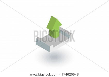 unloading shipment isometric flat icon. 3d vector colorful illustration. Pictogram isolated on white background
