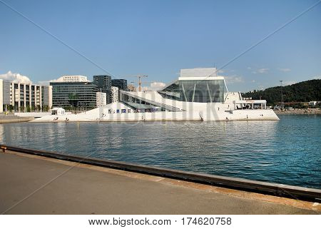 Oslo Norway - July 22 2014: Oslo Opera House. The Oslo Opera House is the home of The Norwegian National Opera and Ballet and the national opera theatre in Norway.