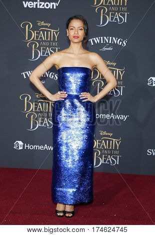 Gugu Mbatha-Raw at the Los Angeles premiere of 'Beauty And The Beast' held at the El Capitan Theatre in Hollywood, USA on March 2, 2017.