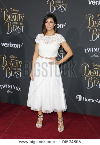 Courtney Laine Mazza at the Los Angeles premiere of 'Beauty And The Beast' held at the El Capitan Theatre in Hollywood, USA on March 2, 2017.