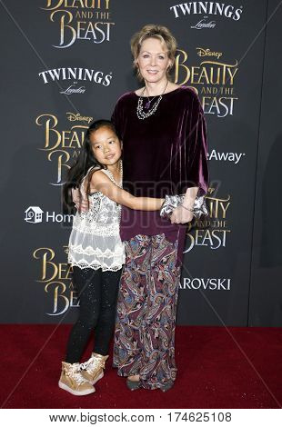 Jean Smart and Bonnie Gilliland at the Los Angeles premiere of 'Beauty And The Beast' held at the El Capitan Theatre in Hollywood, USA on March 2, 2017.