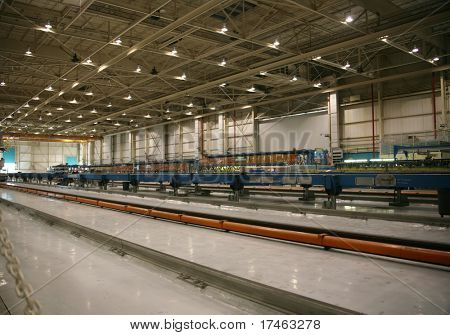 Inside Aerospace Production Facility