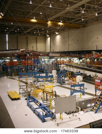 Inside Aerospace Production Facility Top View