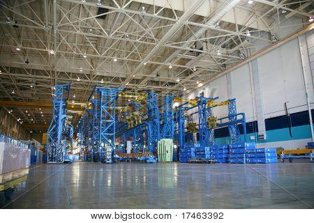 Inside Aerospace Production Facility Bulkhead Jigs
