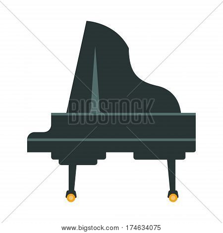 Grand Piano, Part Of Musical Instruments Set Of Realistic Cartoon Vector Isolated Illustrations. Music Orchestra Related Object , Simple Clipart Item In Bright Color.