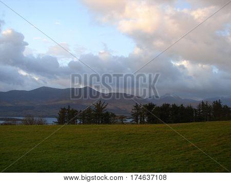 scenic vista along kerry circle in ireland