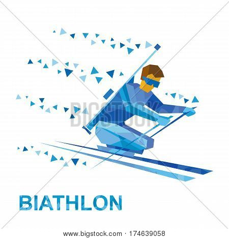 Biathlon For Athletes With A Disability. Disabled Skier.