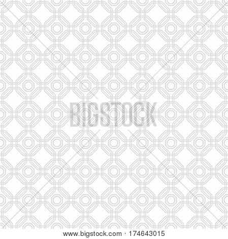 Geometric abstract vector octagonal background. Geometric abstract light silver ornament. Seamless modern pattern