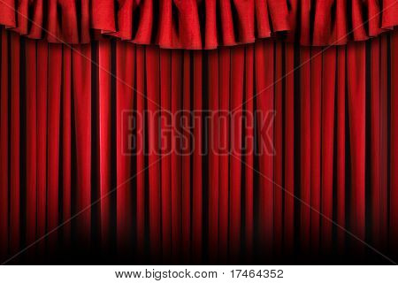 Theater Stage Drapes With Top Swag
