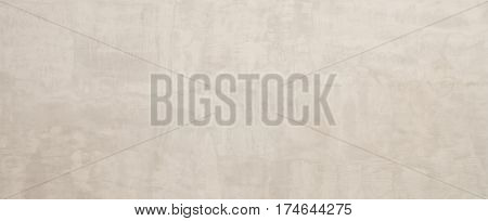 Dark Wall With Dirty White Grey Scratched Plaster Horizontal Background. Old Brickwall With Peel Dirty White Stucco Texture. Retro Vintage Wreck Wall Wallpaper. Decay Rough Abstract Banner Surface.
