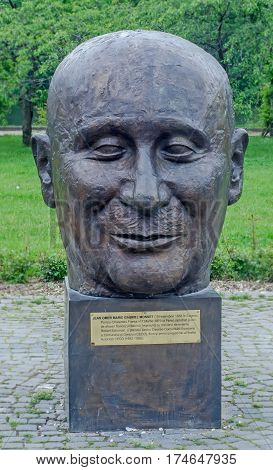 Bucharest, Romania - May 10, 2014. The Public Garden Herastrau. The Statue Of Jean Omer Marie Gabrie