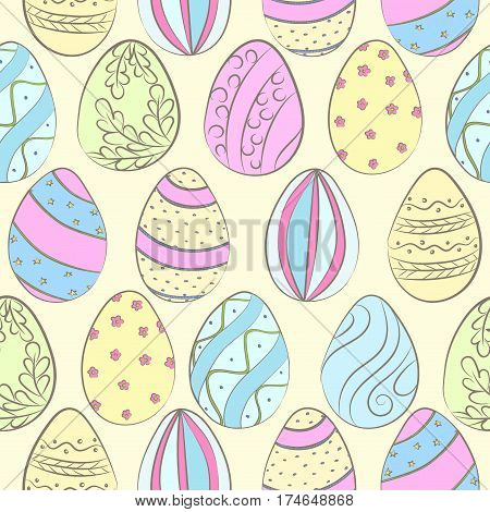 Easter Eggs Color Pattern