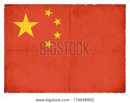 Grunge Flag Of The Peoples Republic Of China