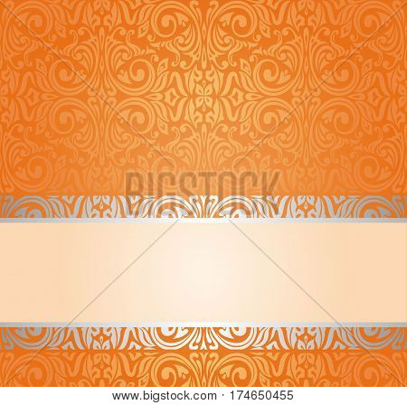 Orange Retro colorful background with copy space