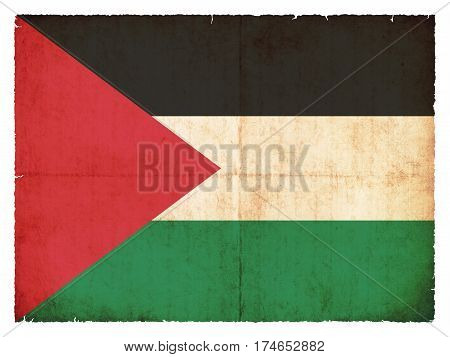 Grunge Flag Of Palestine