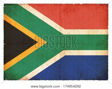 Grunge Flag Of South Africa