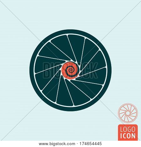 Tirbine icon. Jet engine symbol. Vector illustration