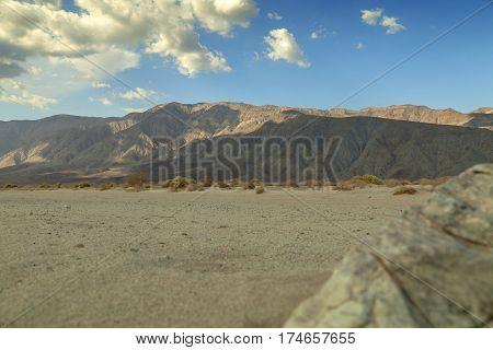 Desert Mountain - Clouds form over Anza-Borrego Desert.