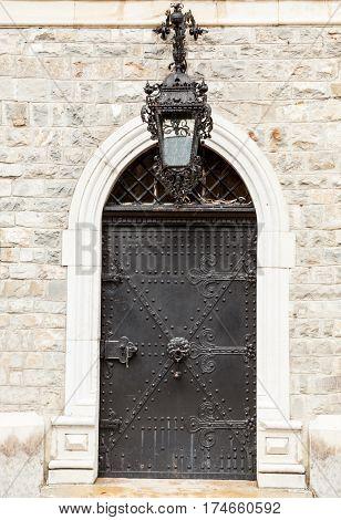 Medieval Door From Peles Castle, Romania