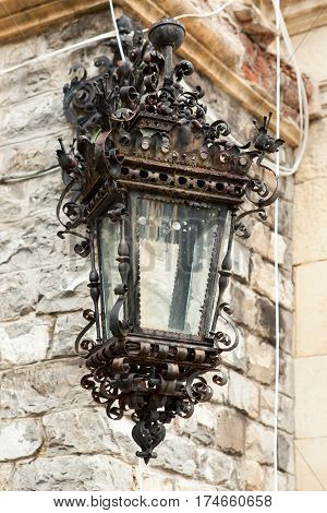 Street Lamp From Peles Castle From Sinaia, Romania