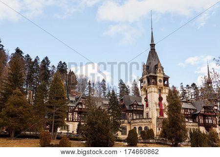 Peles Castle From Sinaia, Romania