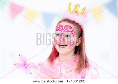 Face Painting For Little Girl Birthday Party