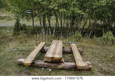 Place for repose in Vitosha mountain, Bulgaria