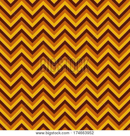 Seamless chevron pattern with yellow and brown lines. Vector illustration.  Background for dress, manufacturing, wallpapers, prints, gift wrap and scrapbook.