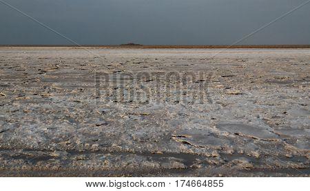 Salt Lake Karum aka Lake Assale or Asale Danakil Afar Ethiopia