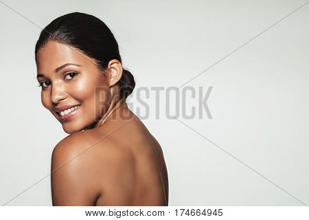Pretty Young Woman With Clean Skin Smiling