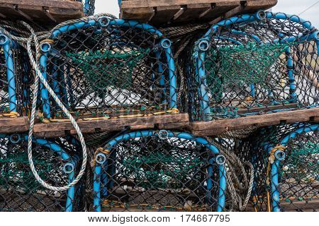 Group Of Fist Net Traps