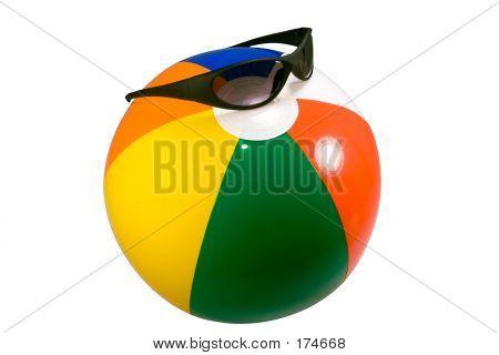 Beach Ball With Sunglasses