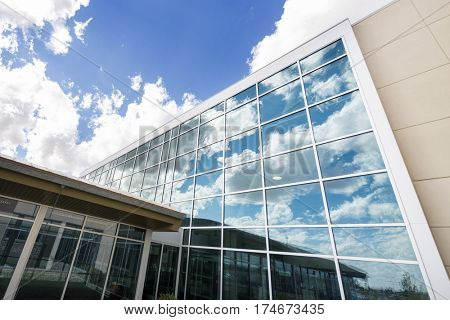 Modern Hospital Building With Glass Windows