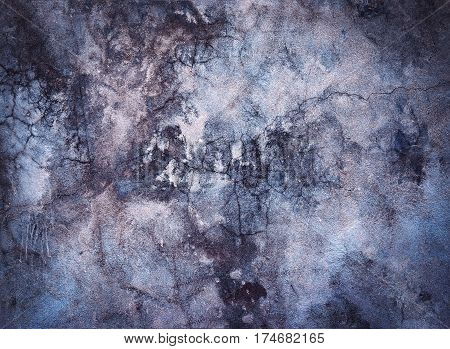 abstract background or texture old dark dingy plaster