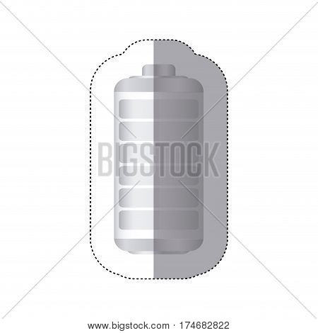 sticker battery symbol zero level charge vector illustration