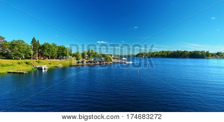 Lake Minocqua is located in northwoods Wisconsin and is a popular summer vacation destination