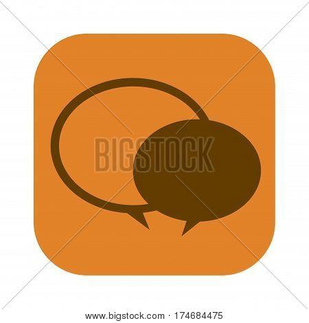 color square with speech bubble icon vector illustration