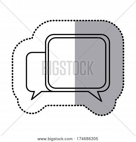 monochrome contour sticker of speech icon vector illustration
