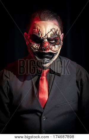 The head of the circus. Meet the evil ringleader that was brought to life using special effects, theatrical lighting, and custom sculpted masks,