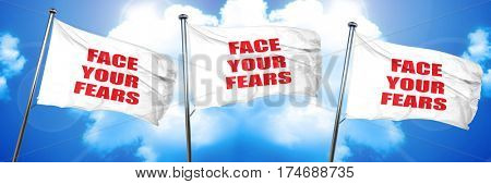 face your fears, 3D rendering, triple flags