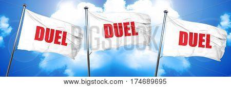 duel, 3D rendering, triple flags