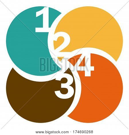 colorful circular figures with numeration vector illustration