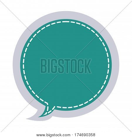 sticker circular balloon frame callout dialogue vector illustration