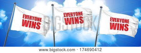 everyone wins, 3D rendering, triple flags